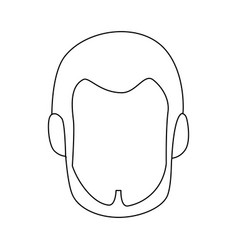 isolated cute man face vector image