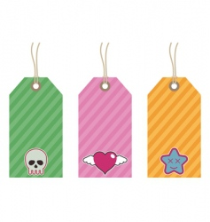 Kids tags vector
