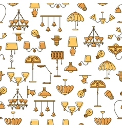 Lamp icon lighting seamless pattern Colorful vector