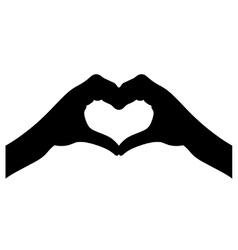 Love heart hands vector