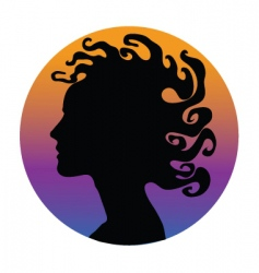 Medusa hair woman vector
