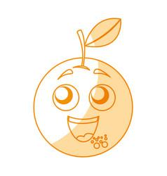 Orange happy kawaii character vector