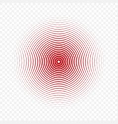 pain circle icon vector image