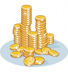 Pile coins vector