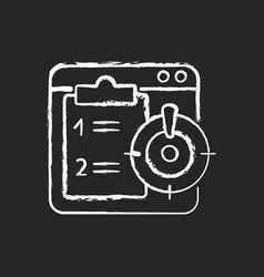 Priority task chalk white icon on dark background vector
