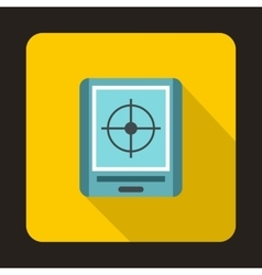 Radar icon in flat style vector image