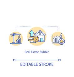 Real estate bubble concept icon housing prices vector
