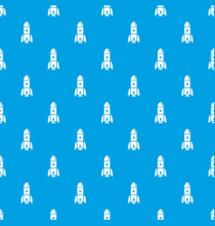 rocket astronomy pattern seamless blue vector image