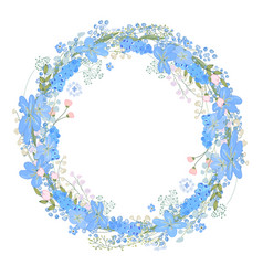 Round frame with pretty flowers muscari and text vector
