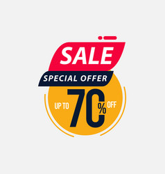 Sale special offer up to 70 off limited time only vector