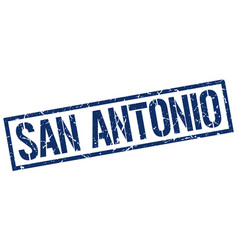 San antonio blue square stamp vector