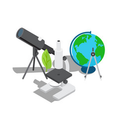 Scientific equipment for observation and research vector