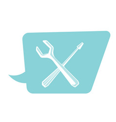 screwdriver and wrench cartoon vector image