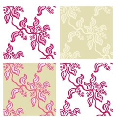 Seamless backgrounds from twigs of berries set vector