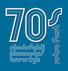 Set retro old lower case english alphabet vector
