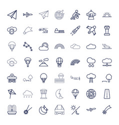 Sky icons vector