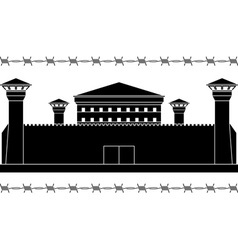 stencil of prison vector image