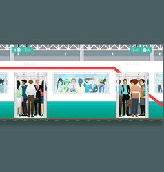 Subway crowded vector
