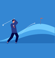 successful business hitting target accuracy vector image