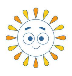 summer sun happy kawaii character vector image