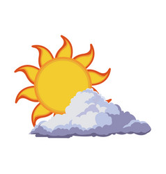 Sun summer weather heat icon vector