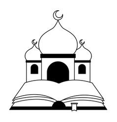 Taj mahal and holy quran vector