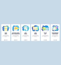 task management app to do list business vector image