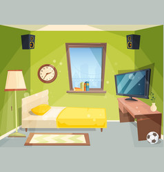 teen room small bedroom for kids student vector image