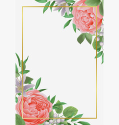 Template with flowers and greenery vector