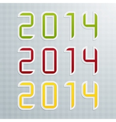 The Second Set of Colored Figures New Year vector image