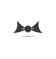 tie logo template vector image