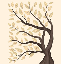 trees with leaves vector image