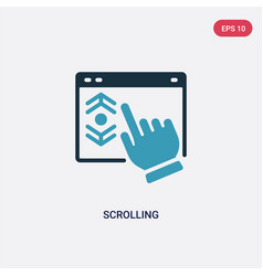 two color scrolling icon from web hosting concept vector image