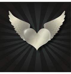 Valentine metal heart vector