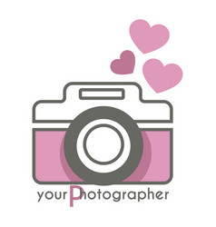 your photographer photo mobile app with camera vector image