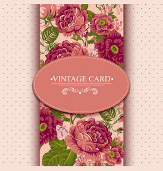 Elegance Vintage Floral Card with Roses vector image vector image