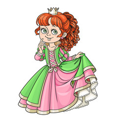 lovely princess color isolated on a white vector image vector image