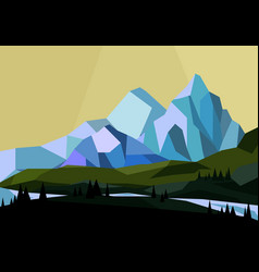 mountains landscape in vector image vector image
