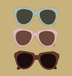 vintage sunglasses vector image vector image