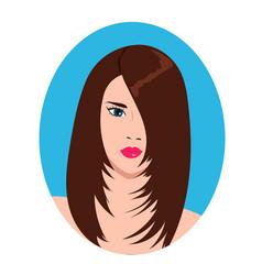 a cute girl face vector image