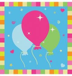 balloon card vector image vector image