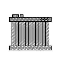 Radiator for cooling the car motor liquids vector
