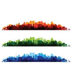 cityscape overprint vector image
