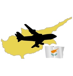 fly me to the Cyprus vector image vector image