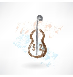 music cello grunge icon vector image vector image