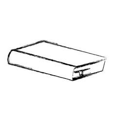 Blurred silhouette closed book icon vector