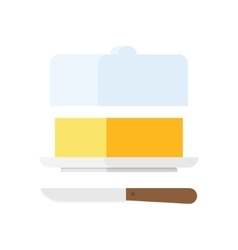 Butter stick with knife vector image