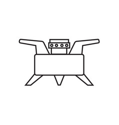 camping stove furnace travel tourist heater icon vector image