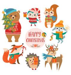 cute christmas greetings vector image