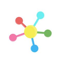 network icon social connection media circle vector image